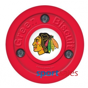 Puck GREEN BISCIUT NHL Chicago Black Hawks Red